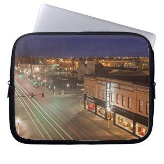 Dawn on Main Street of Bismarck, North Dakota Computer Sleeve
