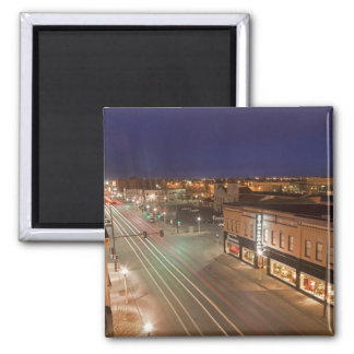 Dawn on Main Street of Bismarck, North Dakota Magnet