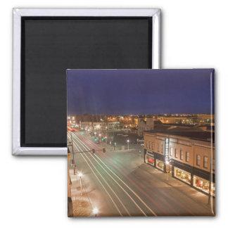 Dawn on Main Street of Bismarck, North Dakota Fridge Magnet