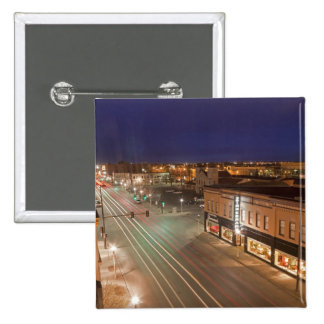 Dawn on Main Street of Bismarck, North Dakota Pinback Button