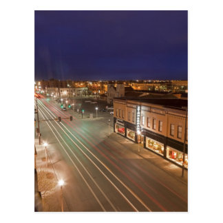 Dawn on Main Street of Bismarck, North Dakota Postcard