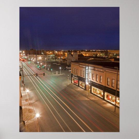 Dawn on Main Street of Bismarck, North Dakota Poster