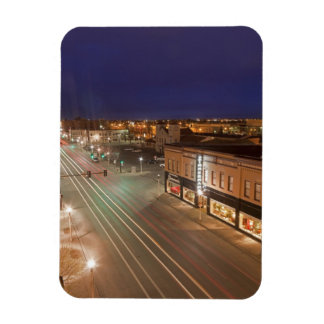 Dawn on Main Street of Bismarck, North Dakota Rectangular Magnet