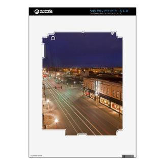 Dawn on Main Street of Bismarck, North Dakota Decal For iPad 3