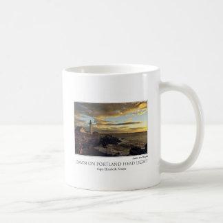 Dawn on Portland Head Light Mug