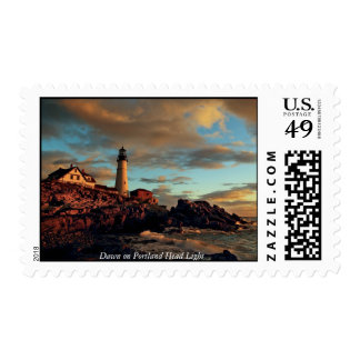 Dawn on Portland Head Light Postage Stamps