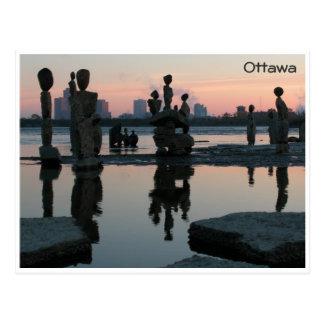 Dawn on the Ottawa River. Postcard