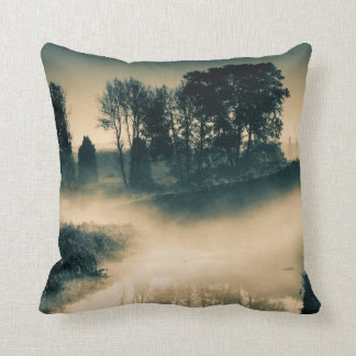 Dawn on the River Bank #1A Throw Pillow