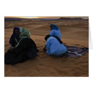 Dawn on the Sahara, Erg Chebbi, Morocco Greeting Card