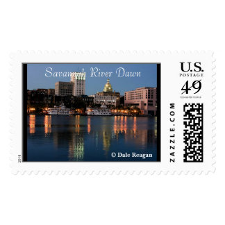 Dawn on the Savannah River Postage