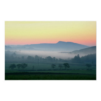 Dawn over Hadrians Wall Poster