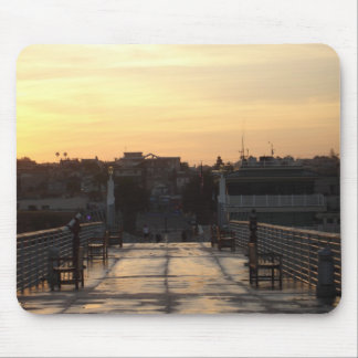 Dawn over Hermosa Pier Mouse Pad
