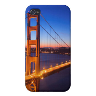 Dawn over San Francisco and Golden Gate Bridge. iPhone 4/4S Covers