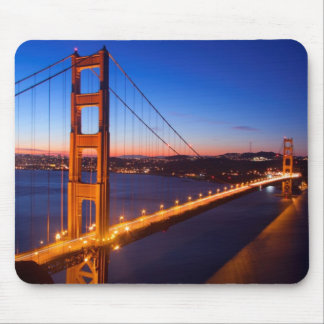 Dawn over San Francisco and Golden Gate Bridge. Mouse Pad