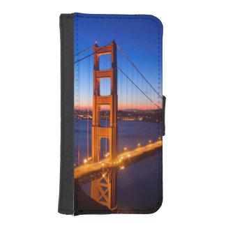 Dawn over San Francisco and Golden Gate Bridge. Phone Wallet Case