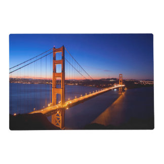 Dawn over San Francisco and Golden Gate Bridge. Placemat