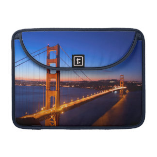 Dawn over San Francisco and Golden Gate Bridge. Sleeve For MacBook Pro