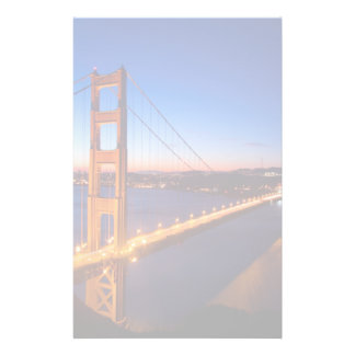 Dawn over San Francisco and Golden Gate Bridge. Stationery