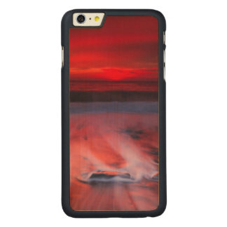 Dawn Over The Stormy Sea Carved Maple iPhone 6 Plus Case