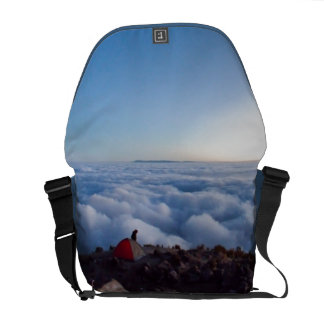 Dawn photograph from above the clouds in Guatemala Messenger Bag