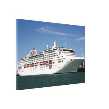 franwestphotography Dawn Princess Cruise Ship Canvas Print