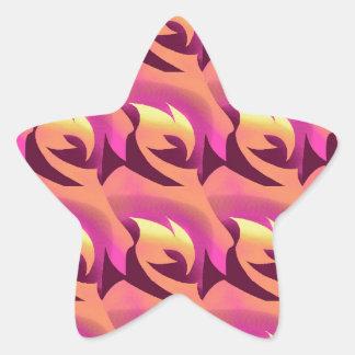 Dawn Rose Star Sticker