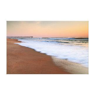 Dawn Seascape at Nags Head Beach Gallery Wrapped Canvas