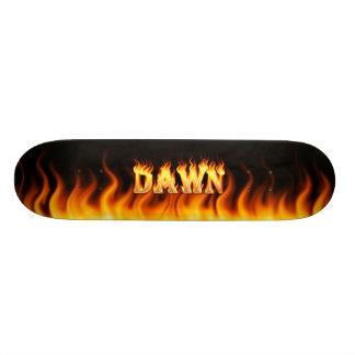 Dawn skateboard fire and flames design.