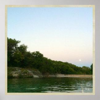 """Dawn Skies"" at Barton Springs Austin Poster"