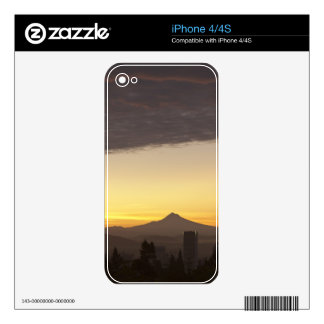 Dawn sky over Portland and Mt. Hood, Oregon iPhone 4S Decal