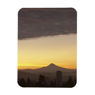 Dawn sky over Portland and Mt. Hood, Oregon Magnet