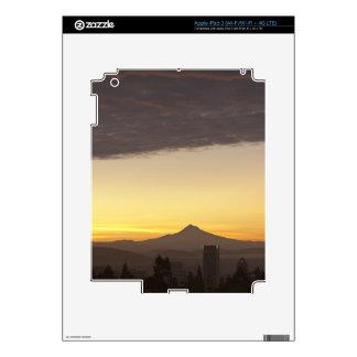 Dawn sky over Portland and Mt. Hood, Oregon Skins For iPad 3