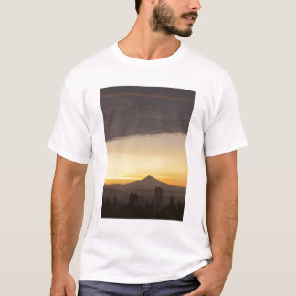Dawn sky over Portland and Mt. Hood, Oregon T-Shirt