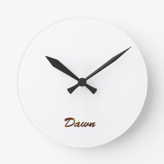 Dawn Small Round White Wall Clock for Decoration