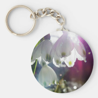 Dawn Snowdrops Basic Round Button Keychain