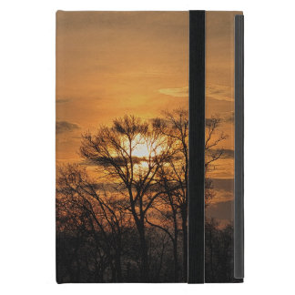 Dawn Sunrise & Tree Branches Nature Art 3 iPad Mini Cover