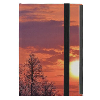 Dawn Sunrise & Tree Branches Nature Art 4 Case For iPad Mini