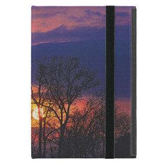 Dawn Sunrise & Tree Branches Nature Art 4 Cover For iPad Mini