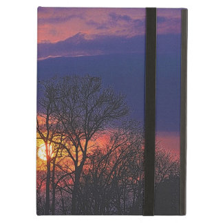 Dawn Sunrise & Tree Branches Nature Art Cover For iPad Air