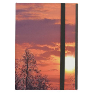 Dawn Sunrise & Tree Branches Nature Art iPad Air Cover
