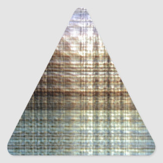 Dawn Textured Modern Unique Design Triangle Sticker