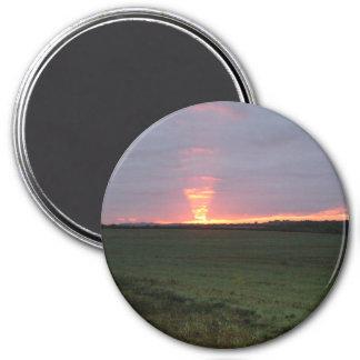 Dawn Visit 3 Inch Round Magnet