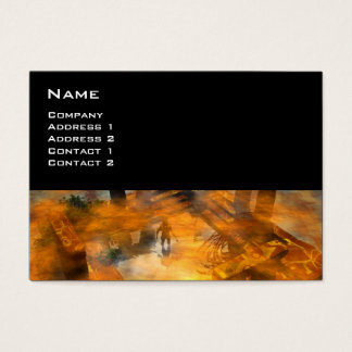 DAWNING DARK/ ALIEN WORLDS Science Fiction Business Card