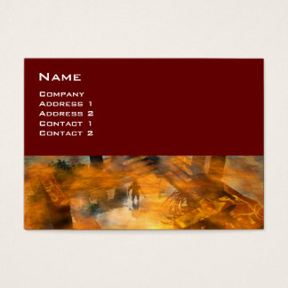 DAWNING DARK/ALIEN WORLDS Science Fiction Red Business Card