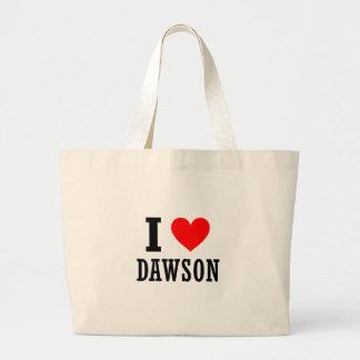 Dawson, Alabama Large Tote Bag