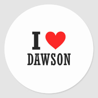 Dawson, Alabama Pegatina Redonda