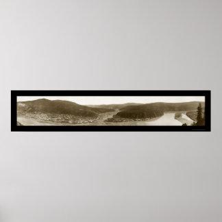 Dawson City Yukon Territory Photo 1915 Poster