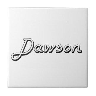 Dawson Classic Retro Name Design Small Square Tile