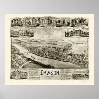 Dawson, PA Panoramic Map - 1902 Poster