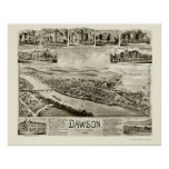 Dawson, PA Panoramic Map - 1902 Print